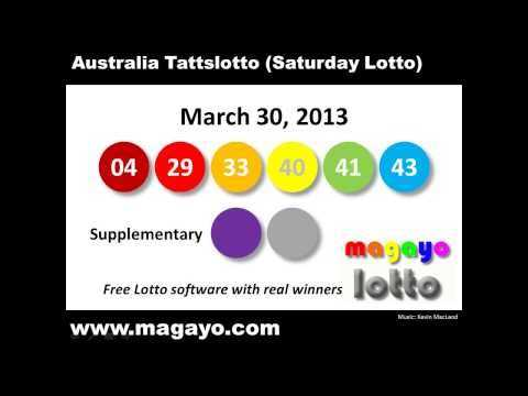 Saturday lotto results nsw - lottery results saturday