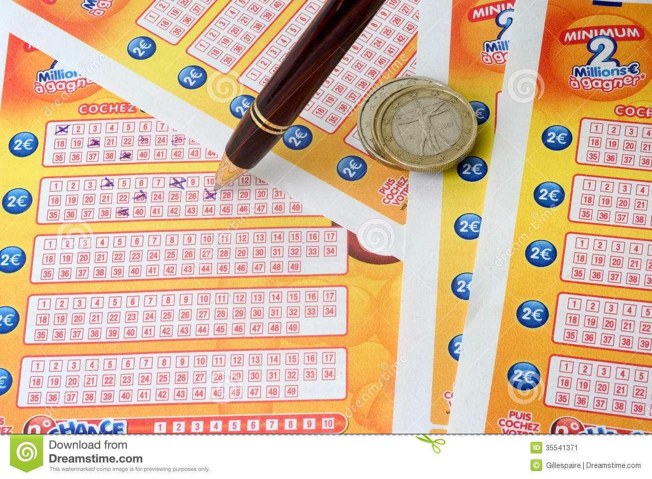 Euromillions della lotteria francese e la mia lotteria da un milione