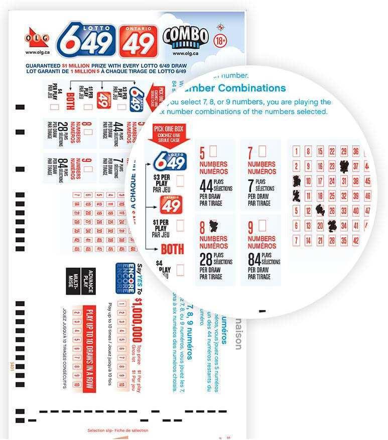 Canada xổ số ontario 49 (6 của 49)